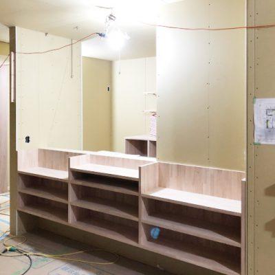 守山区F様邸・大工工事:キッチン造作